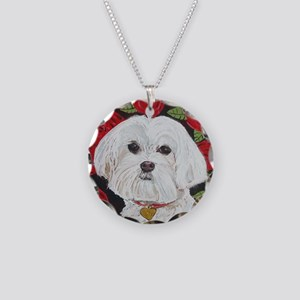 MalteseValentine 8x10 Necklace Circle Charm