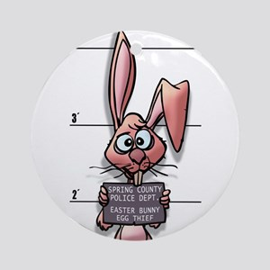 Easter Bunny Mugshot Ornament (Round)