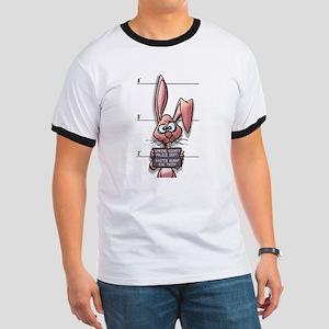 Easter Bunny Mugshot Ringer T