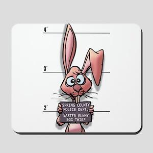 Easter Bunny Mugshot Mousepad