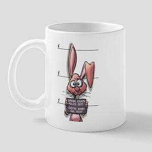 Easter Bunny Mugshot Mug