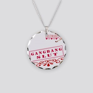 GANGBANG--SLUT Necklace Circle Charm