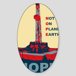 fracknopeearthLARGE Sticker (Oval)