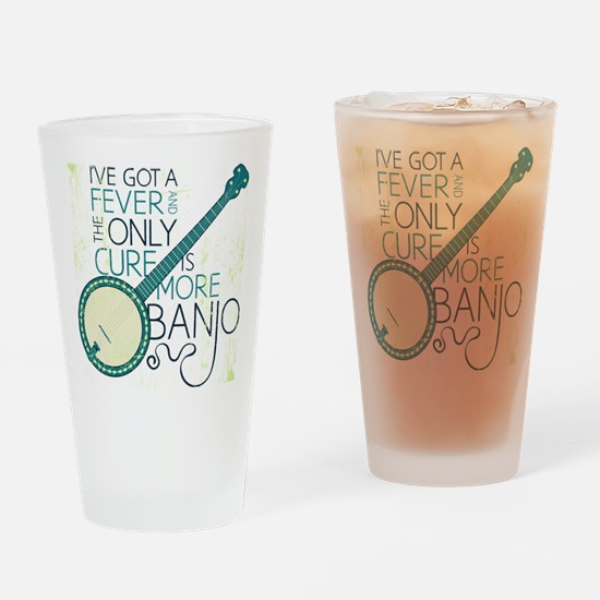 Banjo_White Drinking Glass