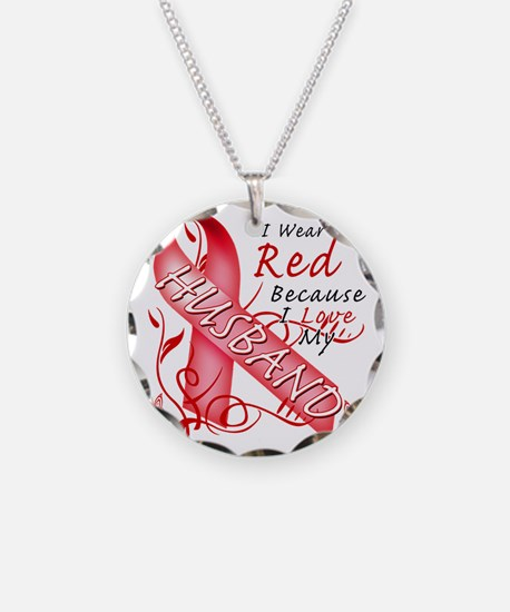 I Wear Red Because I Love My Necklace