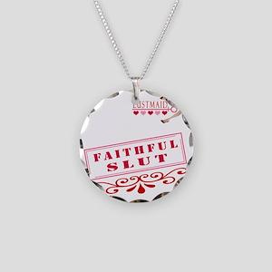FAITHFULL--SLUT Necklace Circle Charm