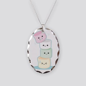 stackedmarshmallows Necklace Oval Charm
