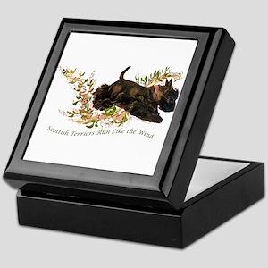 Scottish Terriers run like th Keepsake Box