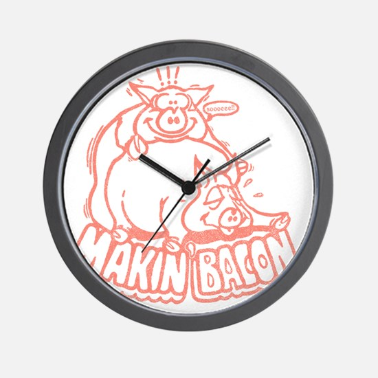 makinbaconpinktran Wall Clock