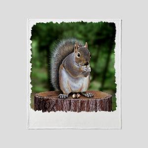 Squirrel nuts w Throw Blanket