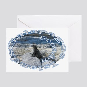 circle_iguana Greeting Card