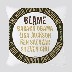 april11_supply_and_demand Woven Throw Pillow