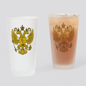 royal russian eagle crest gold symb Drinking Glass