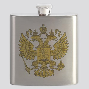 royal russian eagle crest gold symbol Flask