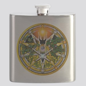 Sabbat Pentacles - Litha Flask