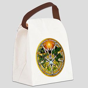 Sabbat Pentacles - Litha Canvas Lunch Bag