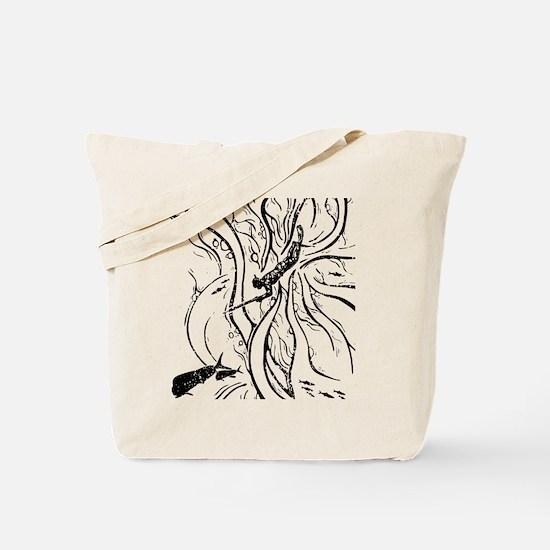 WATERMANSPEARFISHDblack Tote Bag