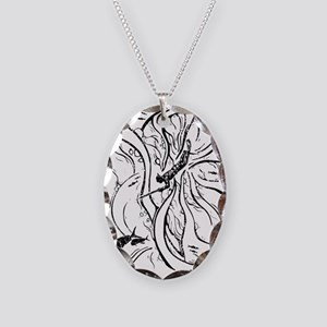 WATERMANSPEARFISHDblack Necklace Oval Charm