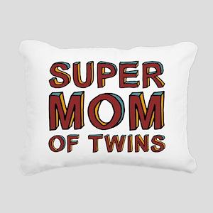 SuperMOMofTwinscpSize Rectangular Canvas Pillow