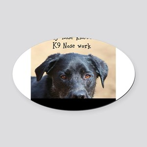 Nose knows Oval Car Magnet
