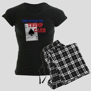 Time to Play the Trump Card Women's Dark Pajamas
