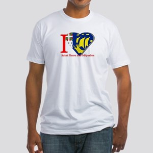 I love St Pierre & Miquelon Fitted T-Shirt