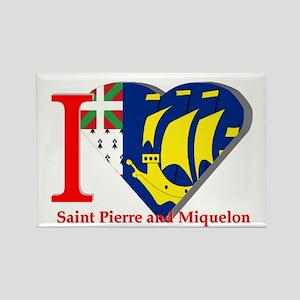 I love St Pierre & Miquelon Rectangle Magnet