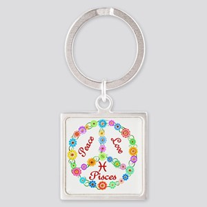 pisces Square Keychain