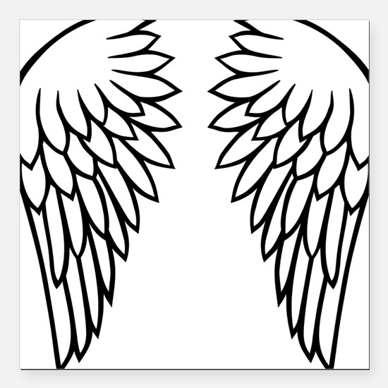 "wings_new_2011 Square Car Magnet 3"" x 3"""