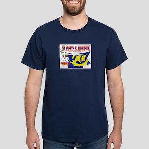 Saint-Pierre and Miquelon flag ribbon Dark T-Shirt