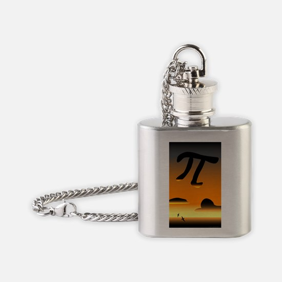 Pi in the Sky Flask Necklace
