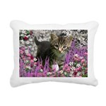Emma in Flowers I Rectangular Canvas Pillow