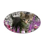 Emma in Flowers I 20x12 Oval Wall Decal