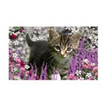 Emma in Flowers I 35x21 Wall Decal