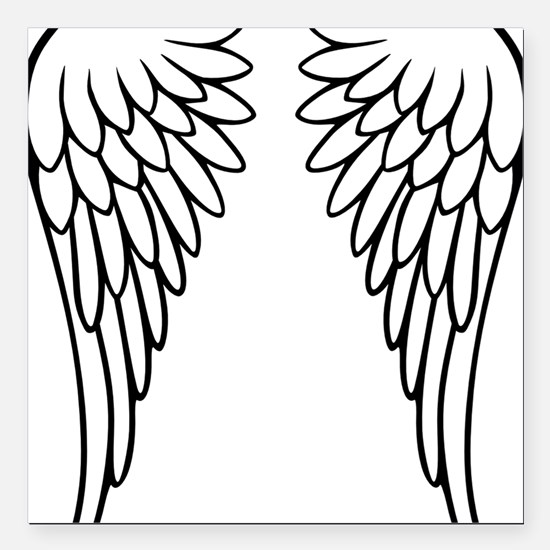 "wings_2011 Square Car Magnet 3"" x 3"""
