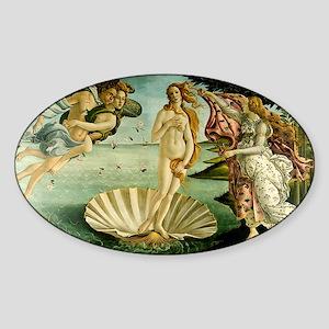 Botticelli Birth of Venus Sticker (Oval)