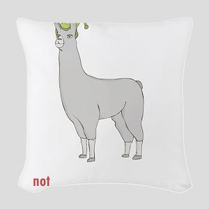Llamas-D7-BlackApparel Woven Throw Pillow