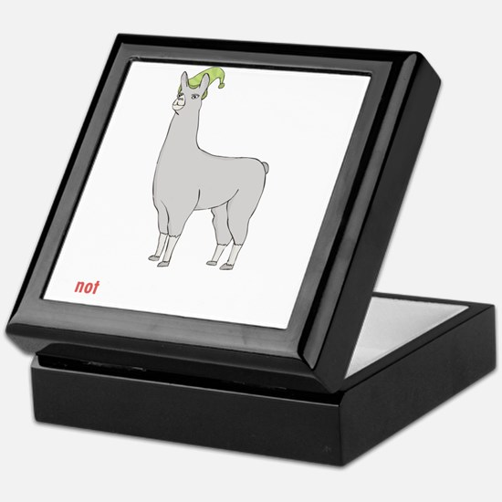 Llamas-D7-BlackApparel Keepsake Box