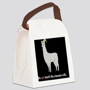 Llamas-D7-Buttons Canvas Lunch Bag