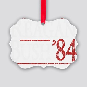 Bush Regan 84 dark tee Picture Ornament