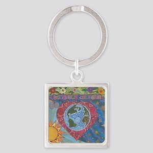 Love Your Mother Square Keychain
