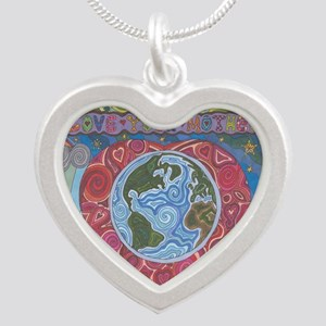 Love Your Mother Silver Heart Necklace