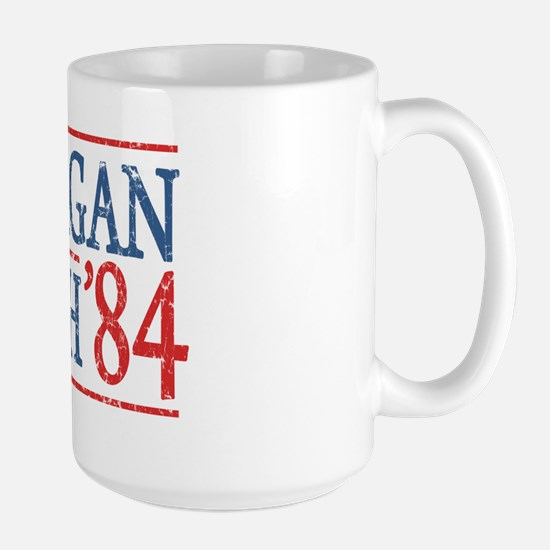 reagan bush 84 t shirt Large Mug