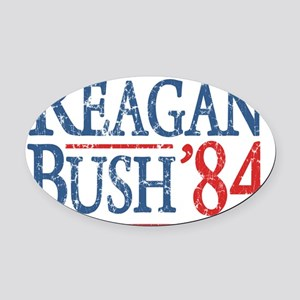 reagan bush 84 t shirt Oval Car Magnet