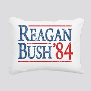 reagan bush 84 t shirt Rectangular Canvas Pillow