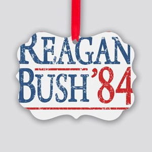 reagan bush 84 t shirt Picture Ornament