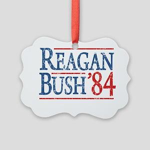reagan bush 84 t shirt Picture Ornament