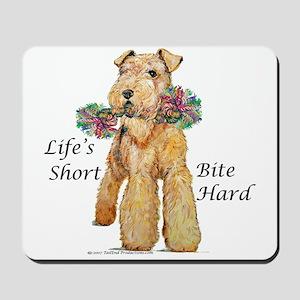 Bite Hard Lakeland Terrier Mousepad