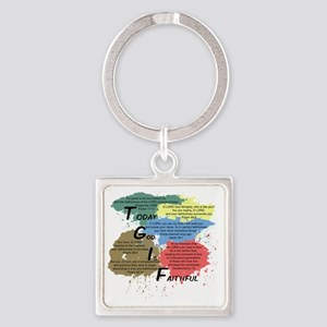 TGIFcolor Square Keychain