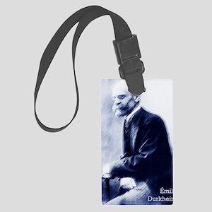 Emile Durkheim Large Luggage Tag
